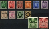 Lot 1298 [2 of 3]:1948-50 KGVI 'BMA/TRIPOLITANIA' & 'BA/TRIPOLITANIA' overprint sets, fine mint, Cat £210. (26)