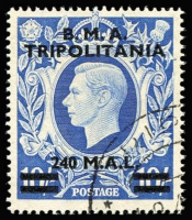 Lot 1297 [1 of 2]:1948 Overprinted 'BMA/TRIPOLITANIA' 1l on ½d to 240l on 10/- set SG #T1-T13, fine used, Cat £180. (13)