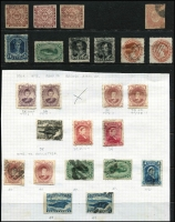 Lot 1191 [2 of 5]:1857-98 Selection with imperf 1857 1d Crown & Heraldic Flowers unused x3 (all small blemishes/faults), 1860 3d green Triangle used, 1862-64 6d rose-lake used, perforated 1865-70 Yellowish paper 24c QV unused, White paper 2c, 10c x2 & 12c x2 used, 1868-73 perforated 1c Type I x2 unused, 1c Type II x2 unused & 5c Seal used, roulettted 1c x2 (one unused) & 2c x2, 1880-82 used set (extra 2c) plus unused 1c x2 & 2c x2, 1887 New Colours used set (ex 5c) and unused to 3c, 1898 Reissues 2c unused; condition variable, however many are fine, high catalogue value. (56)