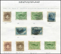 Lot 1191 [3 of 5]:1857-98 Selection with imperf 1857 1d Crown & Heraldic Flowers unused x3 (all small blemishes/faults), 1860 3d green Triangle used, 1862-64 6d rose-lake used, perforated 1865-70 Yellowish paper 24c QV unused, White paper 2c, 10c x2 & 12c x2 used, 1868-73 perforated 1c Type I x2 unused, 1c Type II x2 unused & 5c Seal used, roulettted 1c x2 (one unused) & 2c x2, 1880-82 used set (extra 2c) plus unused 1c x2 & 2c x2, 1887 New Colours used set (ex 5c) and unused to 3c, 1898 Reissues 2c unused; condition variable, however many are fine, high catalogue value. (56)