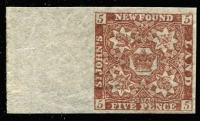 Lot 1238 [1 of 2]:1862-64 New Colours 4d rose-lake, 5d x2, with premium marginal example in chocolate-brown & second example in red-brown, plus 1/- rose-lake SG #18,19,19a & 23, all fine mint, Cat £290+. (4)