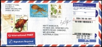 Lot 2 [5 of 7]:2000s Era Cover Assortment of incoming mail to online trader, both domestic & international mail, plenty of attractive overseas frankings, many on registered covers. (300+)