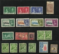 Lot 15 [3 of 4]:British Commonwealth miscellany on Hagners Caymans 1935 Jubilee mint, Cyprus 1938 KGVI £1 used, North Borneo 1961 QEII $10 mint, NZ mint KGV Officials to 1/-, Life Insurance 6d pink unused & used (SG #L36), Rhodesia 1968 5/- booklet, Samoa 1895 1/- Palm Trees bisect on piece, Zambia 1968 20n & 30n booklets; also few foreign with Rodi 5c to 10l mint; condition variable. (65 + 3 booklets)