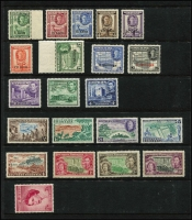 Lot 13 [2 of 5]:British Commonwealth KGVI/QEII Array mostly short or broken sets including Somaliland KGVI 1951 Surcharges set (ex 2s on 2r), Pitcairns 1940 KGVI set (ex 2d, 4d & 8d), Ascension QEII 1956 ½d to 1/-, Caymans KGVI 1950 to 1/-, etc; odd tone, but all stamps MUH and mostly very fine, Cat £200+. (125)