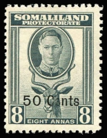 Lot 13 [1 of 5]:British Commonwealth KGVI/QEII Array mostly short or broken sets including Somaliland KGVI 1951 Surcharges set (ex 2s on 2r), Pitcairns 1940 KGVI set (ex 2d, 4d & 8d), Ascension QEII 1956 ½d to 1/-, Caymans KGVI 1950 to 1/-, etc; odd tone, but all stamps MUH and mostly very fine, Cat £200+. (125)