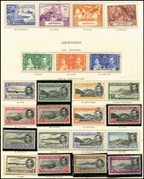 Lot 1:British Commonwealth KGVI Collection in quite well 