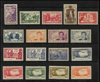 Lot 32 [2 of 5]:French Colonies Assortment mostly French West Africa with 1946 Airs, 1955 FIDES & 1958 Officials sets mint, also Dahomey, Mauritania, Niger including 1937 Exhibition set + M/S, & Oceanic Settlements, also modest array of Peace & Commerce issues for Diego Suarez, Anjouan, Grand Comoro, Mayotte, Moheli, Nossi Be & St Marie de Madagascar. (200+)