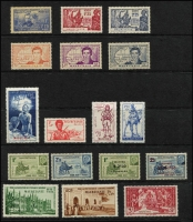 Lot 32 [3 of 5]:French Colonies Assortment mostly French West Africa with 1946 Airs, 1955 FIDES & 1958 Officials sets mint, also Dahomey, Mauritania, Niger including 1937 Exhibition set + M/S, & Oceanic Settlements, also modest array of Peace & Commerce issues for Diego Suarez, Anjouan, Grand Comoro, Mayotte, Moheli, Nossi Be & St Marie de Madagascar. (200+)