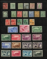 Lot 43:Montserrat 1876-1949 Selection with 1876 1d Overprint on Antigua used, 1884-85 2½d ultramarine used, 1904-08 MCA 2/6d used, 1938-48 KGVI set used (ex 2d & 1/-), 1949 Silver Wedding MUH, mostly fine Cat £160+. (33)