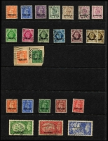 Lot 44 [2 of 5]:Morocco Agencies - Tangier 1949-57 Array including 1949 2d to 1/- used (Cat £150+), 1950-51 set (ex 4d) used plus 2/6d & 5/- on piece with QEII ½d 6d & 7d, QEII 1955 Castles 2/6d to 10/- sets x2 mint (one set MUH) plus used, 1957 Centenary set marginal MUH, also various used duplicates; some used stamps with British postmarks; generally fine, Cat £350+. (130)