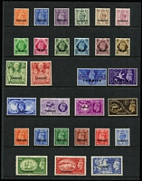 Lot 62 [3 of 3]:Morocco Agencies - Tangier 1927-51 Mint Selection including KGV 1927 & 1934-35 Definitive & 1935 Jubilee sets, KGVI 1937 & 1944 Definitives, 1948 Wedding (MUH), 1949 2d to 10/- set & 1950-51 ½d to 10/- set, some hinge remainders, generally fine mint, Cat £325+. (61)