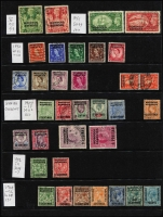 Lot 46 [3 of 5]:Morocco Agencies 1898-1952 Used Accumulation with QV 1898 Opts on Gibraltar 50c & 2p & 1899 5c to 1p, KEVII 1905-06 50c, 1p & 2p (all in variable condition), 1907-13 Opts on GB 4d orange, 6d & 1/-, 1935 1d, 1½d & 2½d Jubilee, KGVI 1949 2/6d & 5/- (crease), 1951 2/6d & 5/-; Spanish Currency with 1907-12 KEVII 1p on 10d, 3p on 2/6d & 6p on 5/-; French Currency with KGV Seahorses 3p on 2/6d x2 & 6p on 5/-; some duplication, condition variable, Cat £650+. (220+)