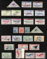 Lot 67 [2 of 6]:World Array with Australian Colonial revenues, Cinderelllas, world airmail & registration labels, Herm Island & Lundy Island mint, etc. Interesting mix of material. (100s)