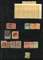 Lot 67 [1 of 6]:World Array with Australian Colonial revenues, Cinderelllas, world airmail & registration labels, Herm Island & Lundy Island mint, etc. Interesting mix of material. (100s)
