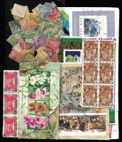 Lot 62:World In In Envelopes mostly used with Australia decimals including M/Ss, gutter strips & multiples plus several box-link covers, also AAT, Bahamas (KGV era), Cocos, COGH, Newfoundland, NZ (lots of, with M/Ss). Should reward careful viewing. (Many 1,000s)
