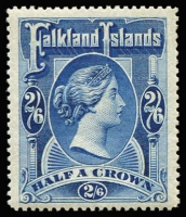 Lot 1283:1898 2/6d deep blue QV, SG #41, very fine MLH, Cat £275.