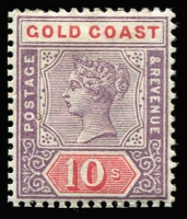 Lot 1399 [1 of 2]:1889-94 5/- dull mauve & blue & 10/- dull mauve and red (tiny pin hole), mint, Cat £220. (2)