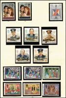 Lot 454 [2 of 4]:1973-1988 Mint Collection in Simplex album largely complete (some 1988 sets absent) from 1971 Ulster to 1988 Christmas, plus a few later sets in packets, face value £90+ (excluding values under 10p), some earlier sets mint, mostly MUH.