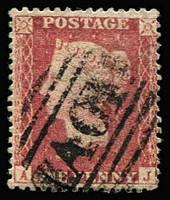 Lot 1647 [1 of 4]:1859-60 Issues Used in Kingston 1d rose-red P14, 4d rose-carmine & 6d lilac x2 (one with straight edge), all with fine and largely complete strikes of Type Z3 'A01' cancels SG #Z12, Z14 & Z15, Cat £1,725 (4)
