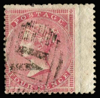 Lot 1437 [1 of 2]:1857-58 Issues selection with 'M'-in bars cancels comprising 1d red-brown SG #Z11, 1d rose-red P14 #Z12 x7, 2d blue P14 #Z15 x2, 4d rose #Z18 x3 (one wing-margin, one with straight edge), 6d lilac #Z20 x3 & 1/- green #Z22, odd blemish, mostly fine, Cat £830+. (17)