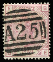 Lot 1299 [1 of 2]:1859-84 Issues Large Coloured Corner Letters 2½d rosy-mauve Plates 4 to 17 complete (ex Pl 11) all with 'A25' cancels SG #Z38, Pl 8 on piece with datestamp alongside, Pl 17 being particularly scarce, odd blemish, generally fine, Cat £220+. (14)