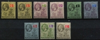 Lot 1450 [2 of 3]:1912-29 KGV Wmk Script CA ¼d to 5/- SG #63-83 with SG listed shades plus some additional shades, fine mint, Cat £100+. (26)