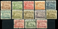 Lot 1349 [2 of 2]:1937-48 Freighters Shiny Paper ½d (P14) to 10/- set SG #26Bc-39B, very fine used, Cat £225. (14)