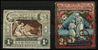 Lot 303 [3 of 3]:Selection with imperf 1d Sydney View 4 margins (thins), Laureates mostly used with 1851-52 Thick Yellowish Paper 1d carmine, 1851-55 2d x3 including Fine Impression on Thick Yellowish Wove Paper, 6d chocolate-brown, 1854 Numeral Wmk 1d strip of 3 & single and 3d x2, (6d) Registered x2; also perforated 6d Large Diadem P12, 1894-1904 10/- Long Type, 1897 Charity duo mint (2/6d gum thins) & 5/- Map opts 'OS'; condition of imperfs quite variable, high catalogue value. (17 items)