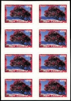Lot 1594:1996 $1 Scenic Views coil strip block of 8 Unseparated vertically between the two columns, backing paper intact, very fine.