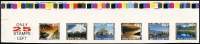 Lot 1467:1996 40c Scenic Views strip of 6 variety Imperforate, colour bars at top, 'ONLY/25/STAMPS/LEFT' label at left, 'Sprintpak-SNP' inscribed on reverse of each unit.