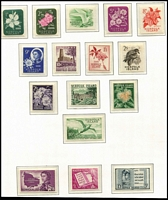 Lot 422 [2 of 3]:1947-83 Collection in quality hingeless KaBe album apparently complete MUH for the period (ex Ball Bay white papers) including 10/- Tropic Bird optd 'SPECIMEN'. Album alone worth a fair proportion of the estimate.
