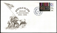 Lot 423 [3 of 4]:1960s-2000s FDC Accumulation with duplication including 1974 UPU M/S x7 (Cat £150+), occasional toning mostly unaddressed, better modern issues include 1995 $10 Pacific War Medals x2, 2009 Species at Risk M/S, etc. Generally fine. (few 100s)