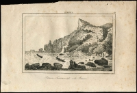 Lot 1210 [3 of 3]:1774 Maps of Norfolk Island three examples from different publications; also two Pitcairns lithographs (spotting) one showing John Adams mutineer & Pitcairn settler, the other showing a coastal scene. (5 items)