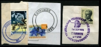 Lot 352 [1 of 4]:1980s-2000s Datestamps on covers x40+ (plus one registered front), plus various strikes on piece, mild duplication. (200+ items)
