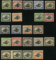 Lot 427 [1 of 2]:1901-11 Selection mostly mint with BNG 1901-05 to 1/- (perf fault) with very fine 6d SG #14, various 1907 Small 'Papua' overprints to 2/6d SG #37 including 1/- SG #44 used, 1907-10 Small 'PAPUA' simplified to 1/- including 4d x2 & 6d x2, 1910-11 Large 'PAPUA' to 2/6d Type C, very fine mint; condition variable especially BNG issue. (30)