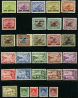 Lot 428 [2 of 2]:1911-1929 Selection mostly mint with 1911 Moncolours set, 1916-31 Bicolours to 2/6d, 1917 1d Surcharges set, 1931 Airs & Surcharges, 1932 9d & 1/3d, 1934 50th Anniv (used), 1935 Jubilee and 1938 & 1939 (incl 1/6d) Air sets, generally fine Cat £300 approx. (60)