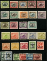Lot 428 [1 of 2]:1911-1929 Selection mostly mint with 1911 Moncolours set, 1916-31 Bicolours to 2/6d, 1917 1d Surcharges set, 1931 Airs & Surcharges, 1932 9d & 1/3d, 1934 50th Anniv (used), 1935 Jubilee and 1938 & 1939 (incl 1/6d) Air sets, generally fine Cat £300 approx. (60)