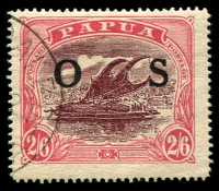 Lot 1033 [1 of 3]:1931-32 Overprinted 'OS': ½d to 2/6d set SG #O55-66, 1/- & 1/3d values mint, others fine used, Cat £280. (12)