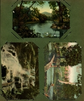 Lot 137 [3 of 3]:Victoria Selection: mostly Healesville scenes including RP types of Myer's Creek Falls (Rose series) and a Coronderrek Weir/Donnelly's Creek Weir twin image card; also modern copy of a photograph showing view of Seville. (8)