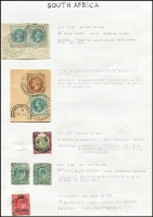 Lot 1527 [2 of 4]:1881-1901 Issues Used in British Army Field Offices Selection with QV ½d vermilion x4 including pair, ½d blue-green x2 including pair, 1d lilac x11, 2d x3 including pair, 1/- green & carmine x2 (Cat £450); KEVII ½d x2 & 1d optd 'ARMY/OFFICIAL, various military cancels, some being complete strikes on piece, condition variable but mostly fine, Cat £650+
