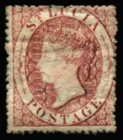 Lot 1502:1860 Wmk Small Star (1d) rose-red SG #1, fine mint, Cat £100.