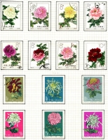 Lot 121 [1 of 3]:Attractive Collection with sets & part-sets for various themes including animals, birds, butterflies, fish, flowers (including China 1960 30f, 35f & 52f Chrysanthemums), funghi, insects, marine life, etc, mostly CTO, some mint. (100s)