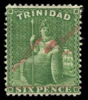 Lot 1732 [3 of 4]:1879-82 Surcharges comprising 1879-82 ½d on ½d & 1d on 1d rosy carmine, 1882 Surcharged by Hand 1d on 6d bright yellow-green & 1d on 6d deep yellow-green, SG #98, 101, 104-05, fine mint, Cat £125. (4)