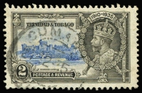 Lot 1540:1935 Silver Jubilee 2c variety Extra flagstaff SG #239a, fine used, Cat £55.