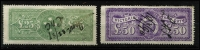 Lot 1115 [2 of 2]:Stamp Duty: 1885-1900 Ultra High Values Recess Printed £25, £50 & £100, some pinholes (one enlarged on £100), tidy pen cancels. (3)