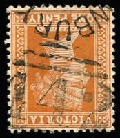 Lot 1137:442: '442' Type 4 (A3), with small-part Newbury datestamp (not previously recorded) on 1d orange-brown, [Rated 3R].  Allocated to Newbury-PO 1/8/1863; closed 20/11/1974.