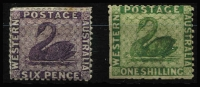 Lot 1167 [2 of 2]:1864-79 Wmk Crown/CC (Sideways) Perf 12½ 4d carmine, 6d violet & 1/- bright green SG #56-57 & 61, 6d & 1/- without gum, Cat £560. (3)