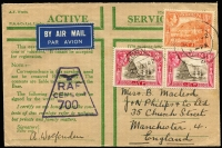 Lot 1370 [2 of 4]:1942-43 RAF Censor Covers x8, mostly 'Honour' Envelopes, all to England with generally fine RAF censor markings used at RAF HQ Steamer Point or at RAF Khormaksar. Attractively franked group in generally fine condition. (8)