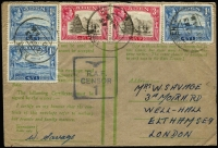Lot 1370 [3 of 4]:1942-43 RAF Censor Covers x8, mostly 'Honour' Envelopes, all to England with generally fine RAF censor markings used at RAF HQ Steamer Point or at RAF Khormaksar. Attractively franked group in generally fine condition. (8)