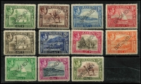Lot 1365 [2 of 2]:1939 KGVI Pictorials ½a to 10r set (ex 14a) perforated 'SPECIMEN' SG #16s-27s (ex #23as), mild gum toning on some values, fine mint overall, Cat £375. (12)